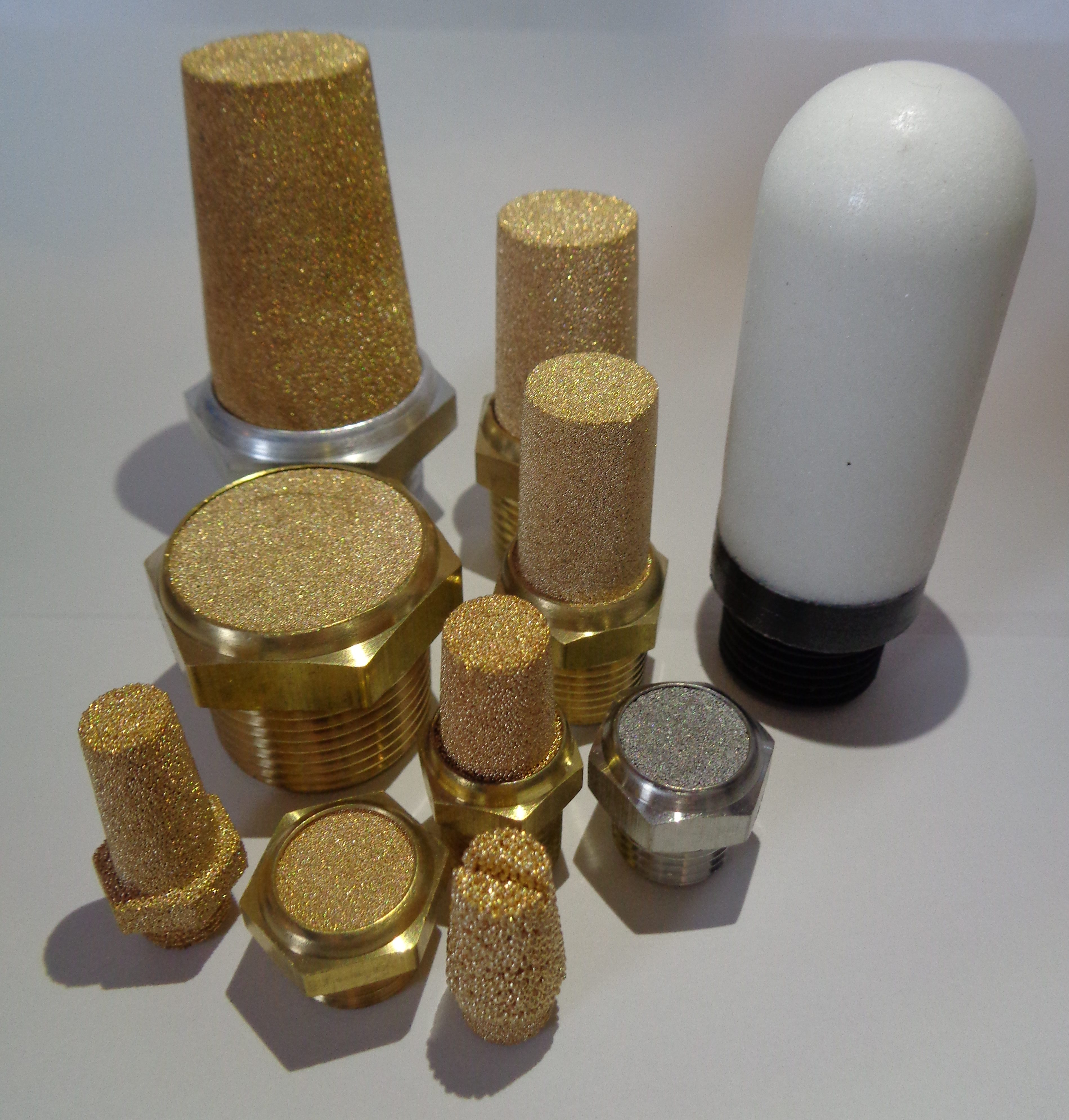Sintered metal and Polyethylene Mufflers and Silencers